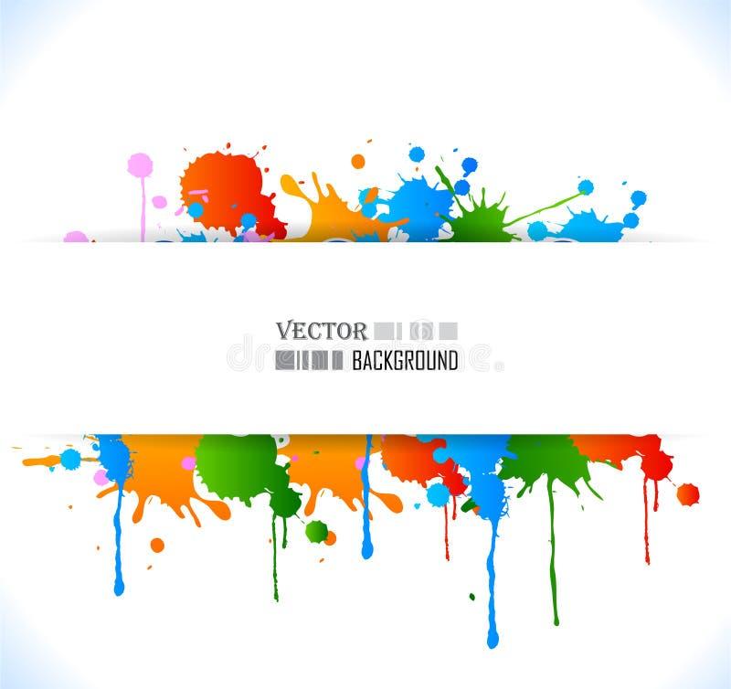 colour grunge plakat ilustracja wektor