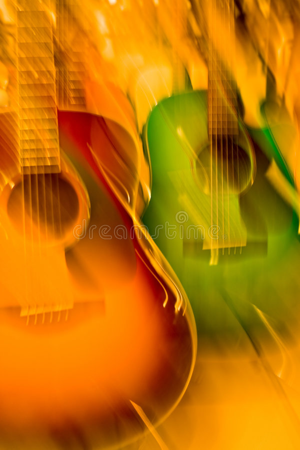 Free Colour Guitars Stock Image - 5227261