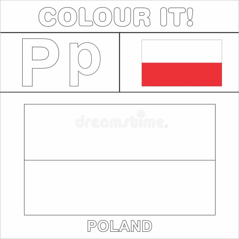Poland flag coloring - country flags | 798x800