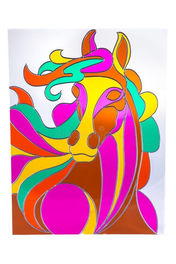 Colour koń - witraż zdjęcie stock