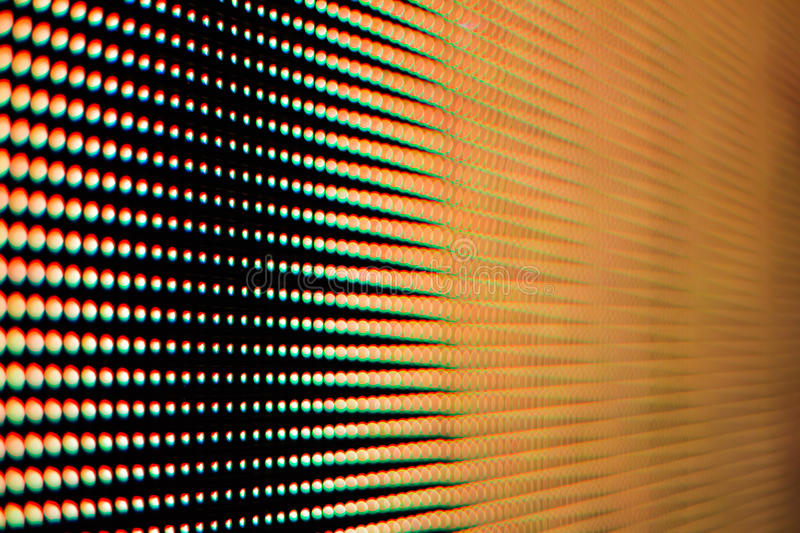 Colour of the light from the led screen. royalty free stock photography