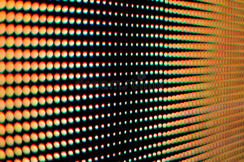 Colour of the light from the led screen. royalty free stock images