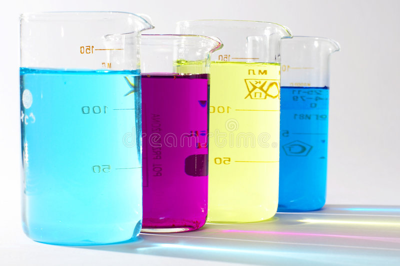 Colour liquids royalty free stock photo