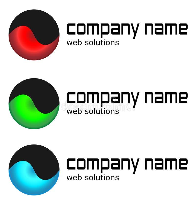 colour loga projekta trzy wariant royalty ilustracja