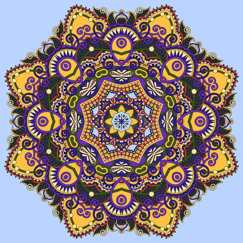 Colour mandala, circle decorative spiritual indian royalty free illustration