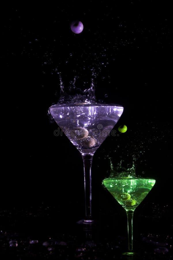 colour martini royaltyfri foto