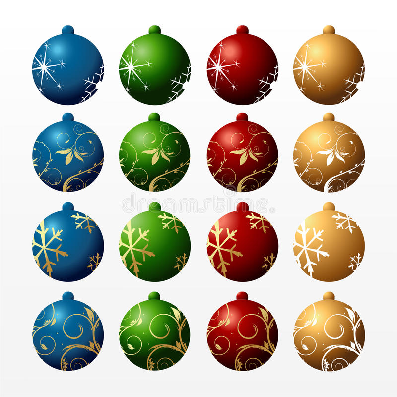 Colour New Year's balls royalty free stock photography