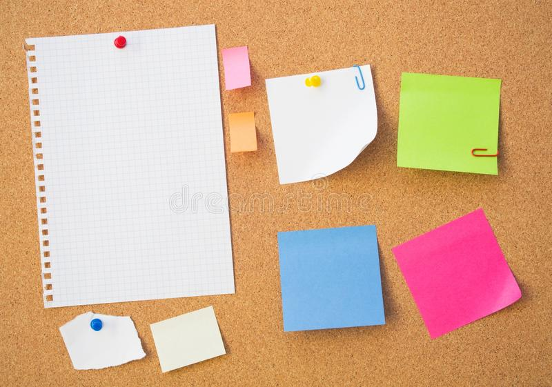 Download Colour Note Papers On Pin Board. Stock Image - Image of label, colour: 30049917