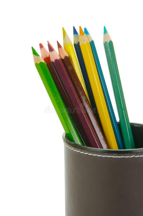 colour ołówki fotografia stock