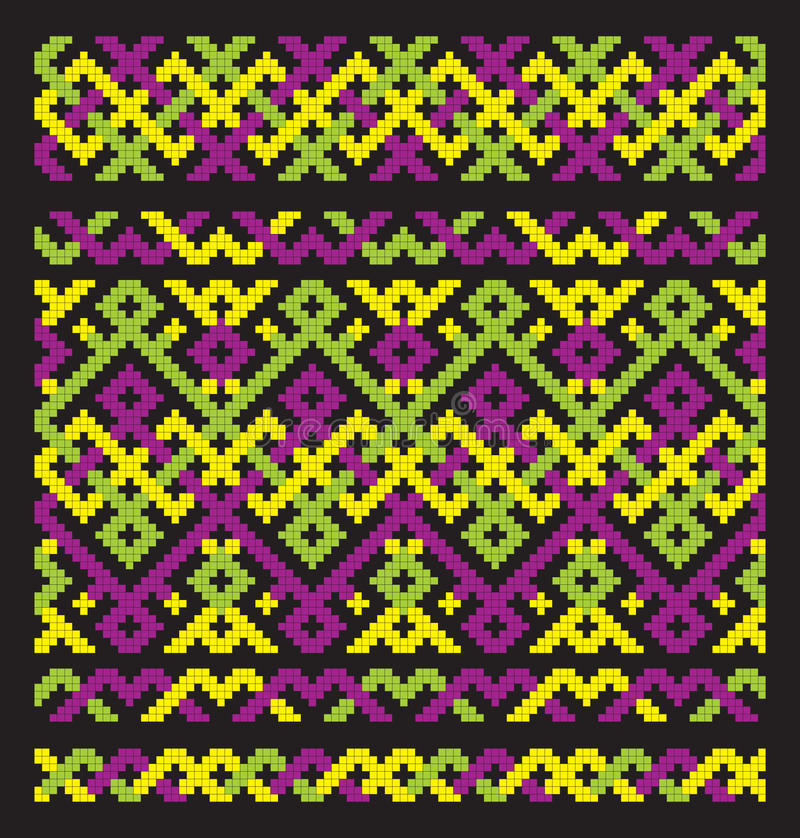 Download Colour ornament embroidery stock vector. Image of flower - 15115977