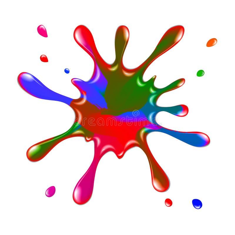 Colour paint blot, splashes and drops. For design vector illustration