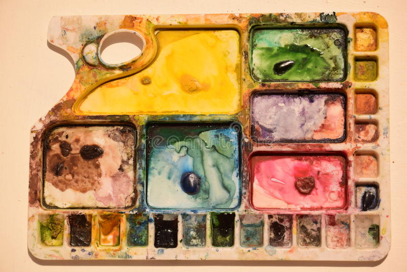 Colour paleta obrazy royalty free