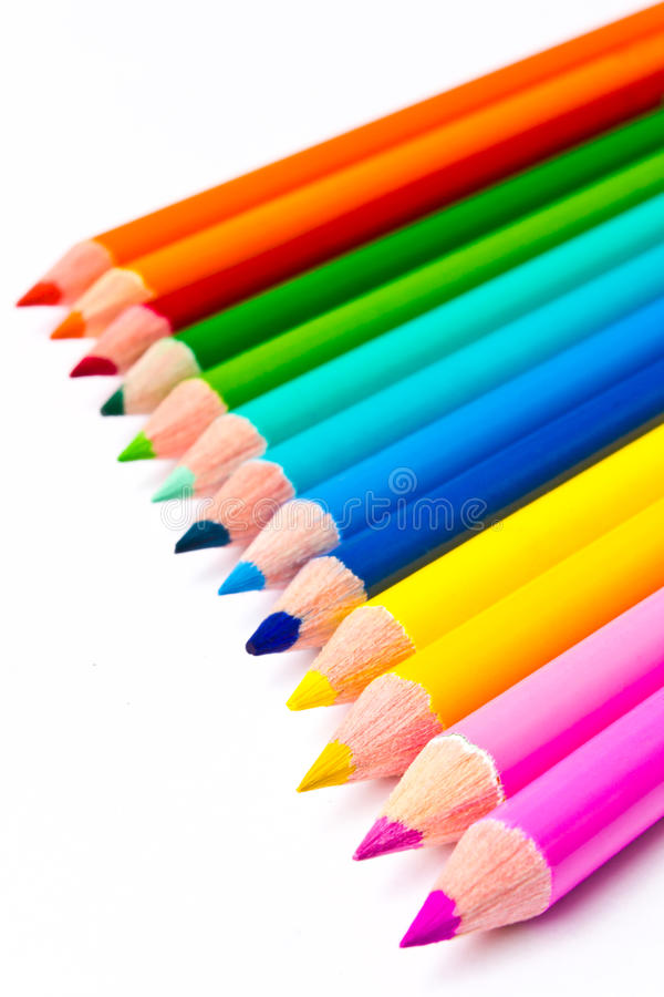 Colour Pencil. Isolated of the color Pencil royalty free stock images