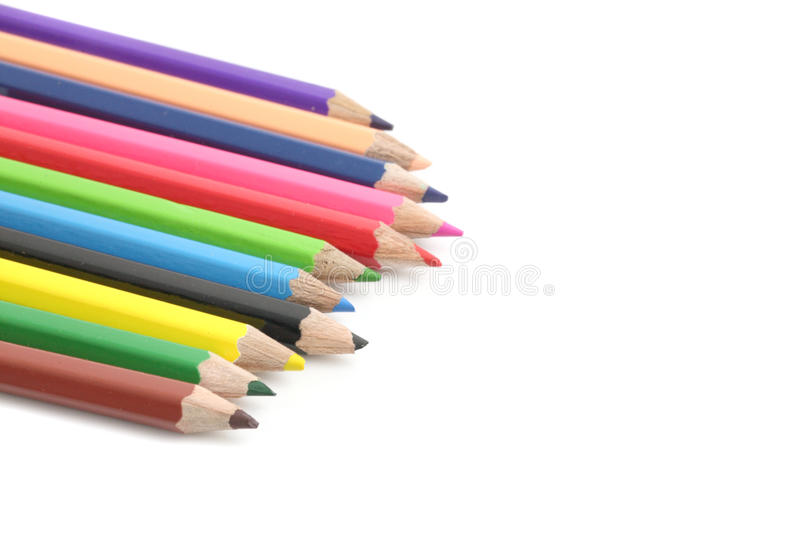 Download Colour Pencil Isolate In White Background Royalty Free Stock Photography - Image: 19429317