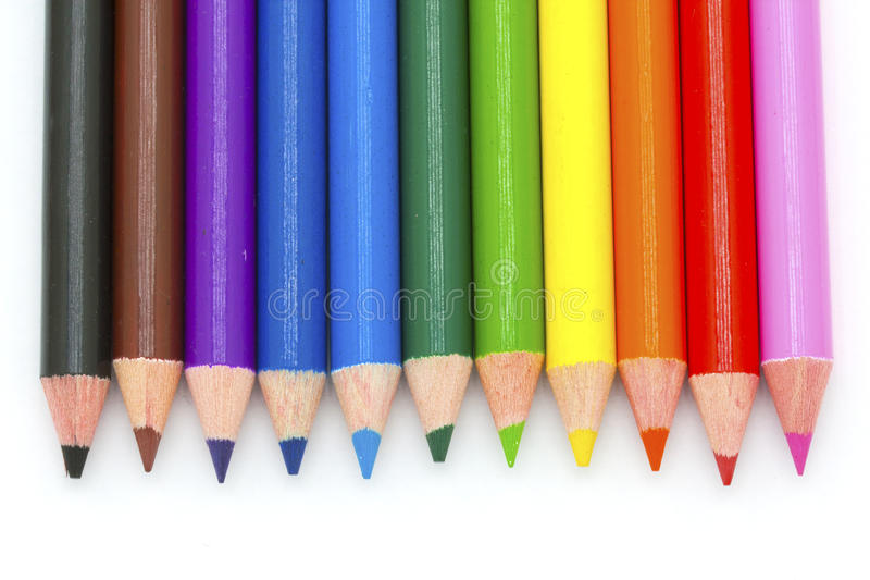 Download Colour pencils stock image. Image of green, objects, blue - 23529287
