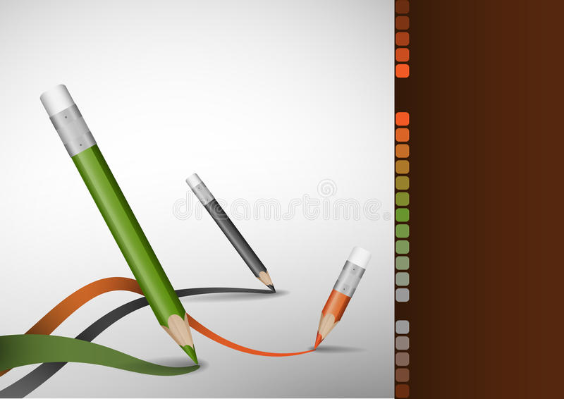 Drawing Lines In Office : Colour pencils drawing lines stock vector illustration of