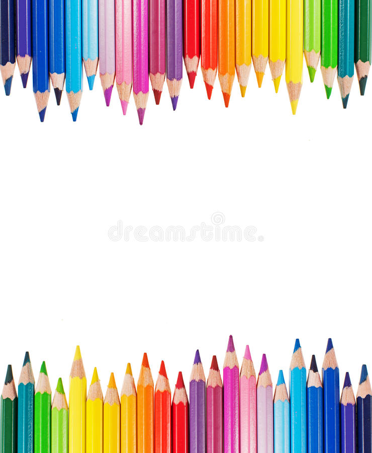 Download Colour pencils stock image. Image of background, orange - 31369887