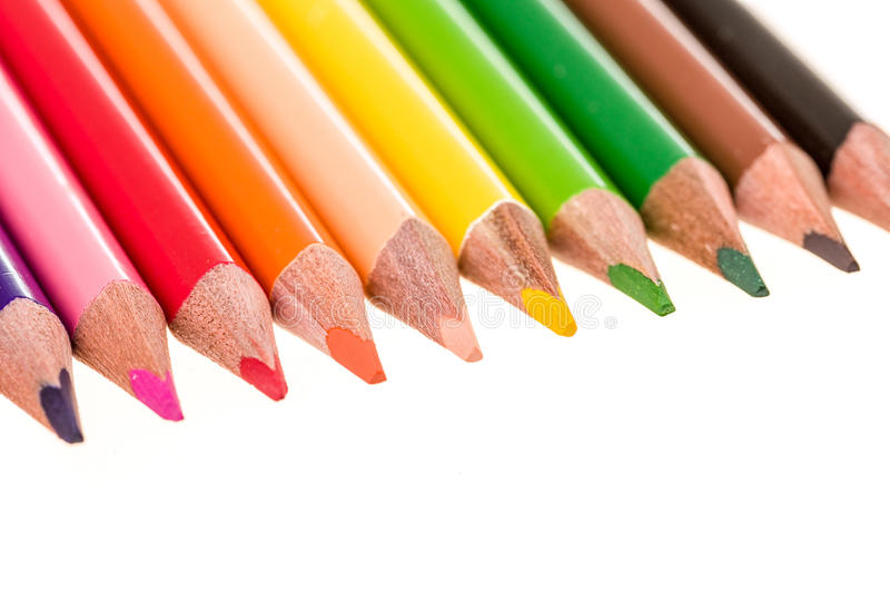 Download Colour Pencils Isolated On White Stock Photo - Image: 37694976