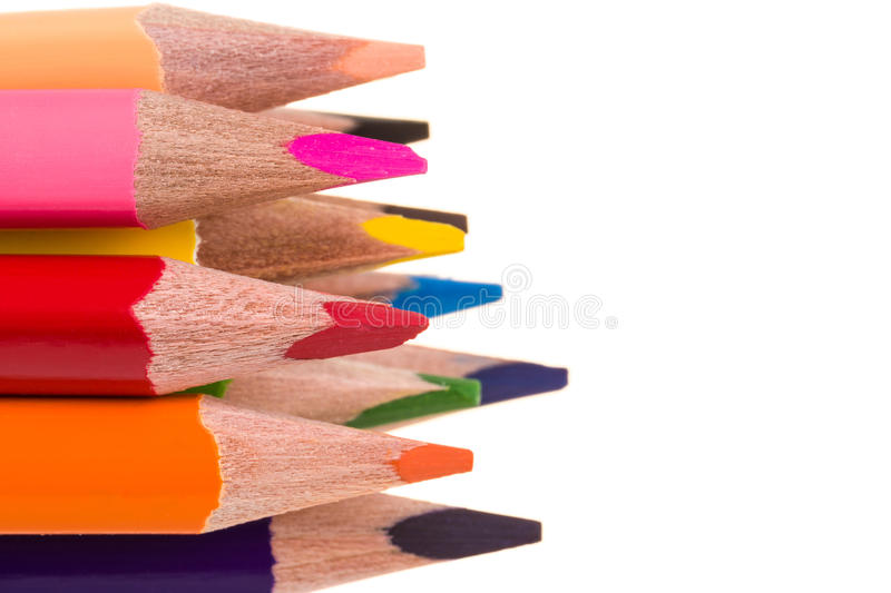 Download Colour Pencils Isolated On White Stock Photo - Image: 37694992