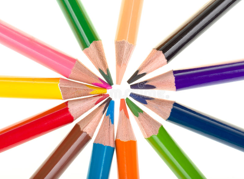 Download Colour Pencils Isolated On White Stock Photo - Image: 37730246