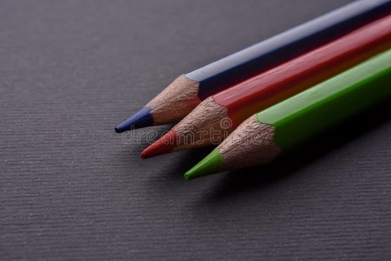 Colour pencils RGB stock photography