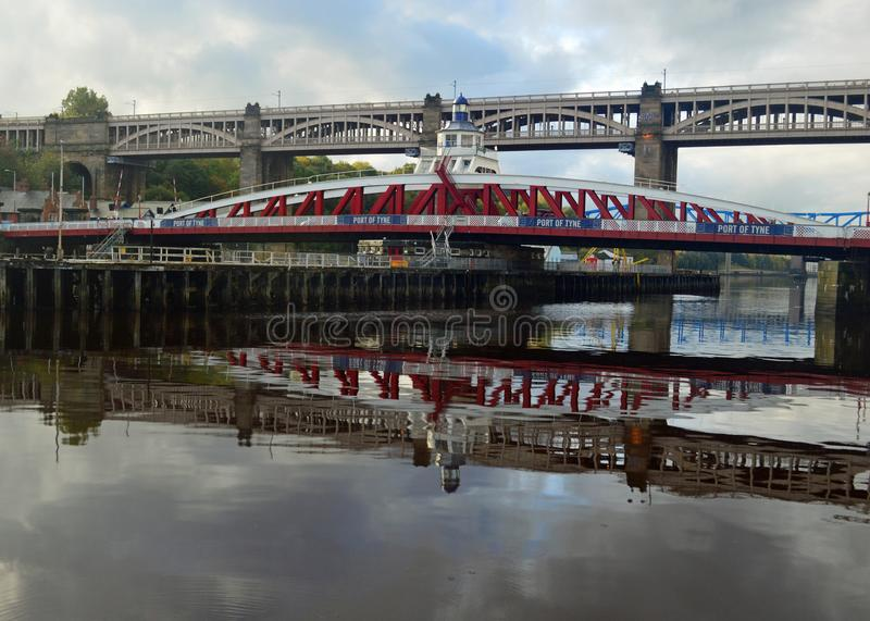 Newcastle - Tyne Bridges and the river royalty free stock photo