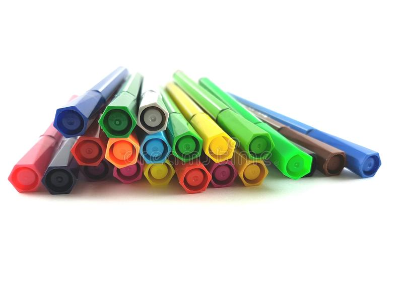 Colour pióra zdjęcia stock