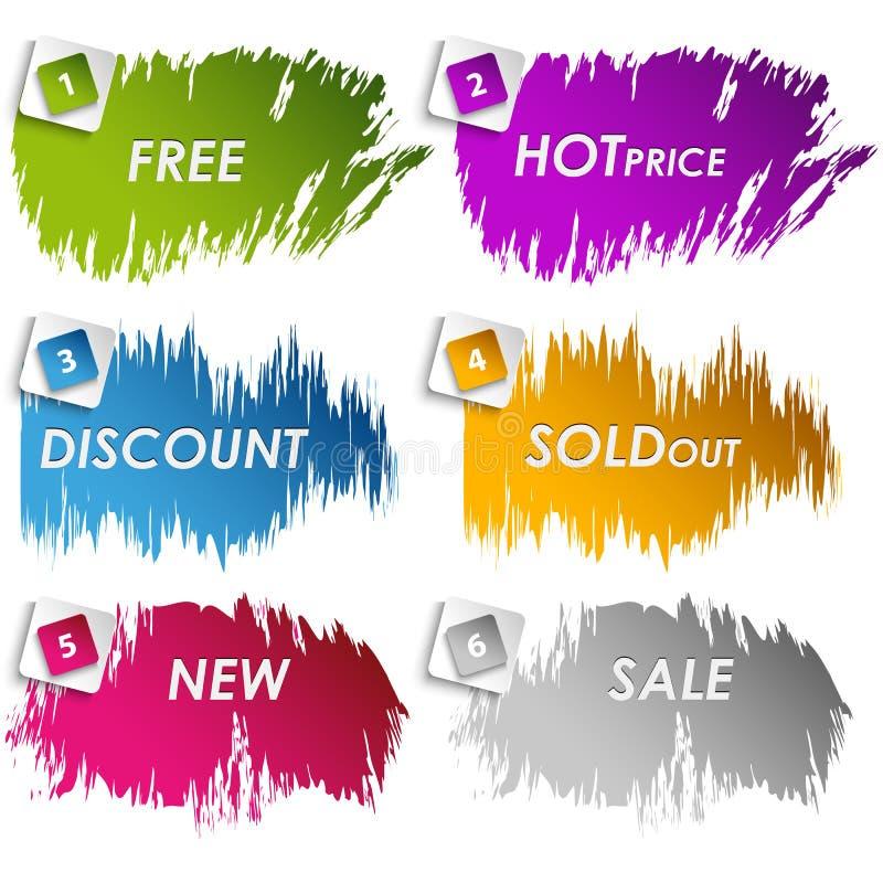 Colour plamy dla sprzedaż rabata royalty ilustracja