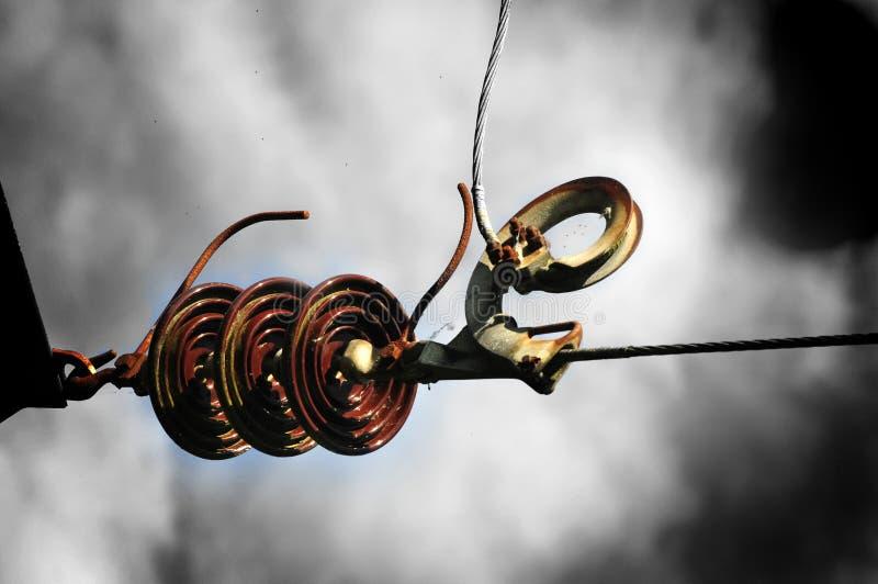 COLOUR POP ELECTRIC PYLON INSULATOR HOOK UP stock images