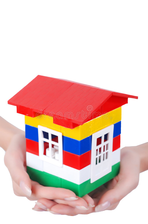 colour ręk domu zabawka obrazy royalty free