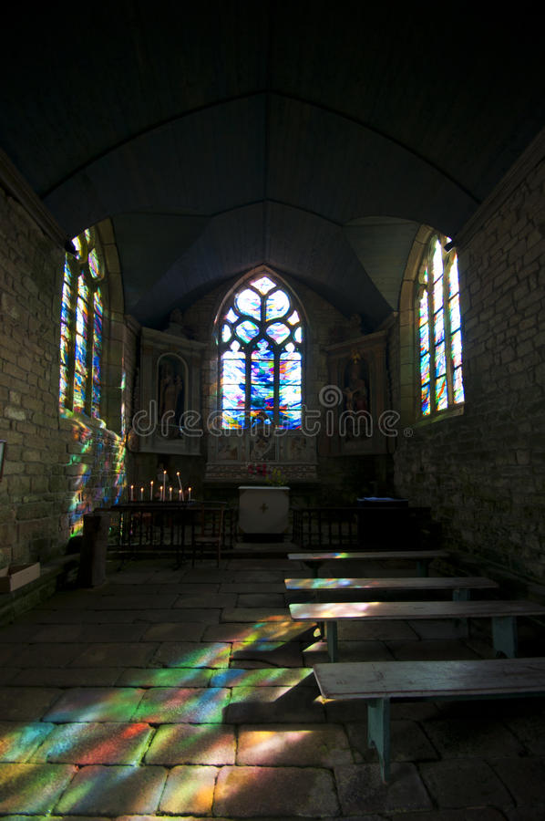 Download Colour Reflections In A Little Chapel Stock Photo - Image: 26538072