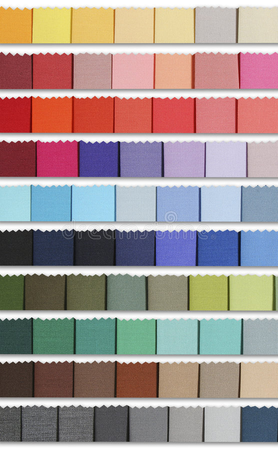 Free Colour Samples Palette Of Fabric Stock Images - 836274