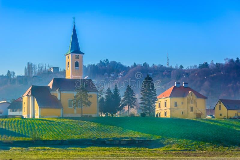Colour scenery in Zagorje, Sveta Nedelja. stock images