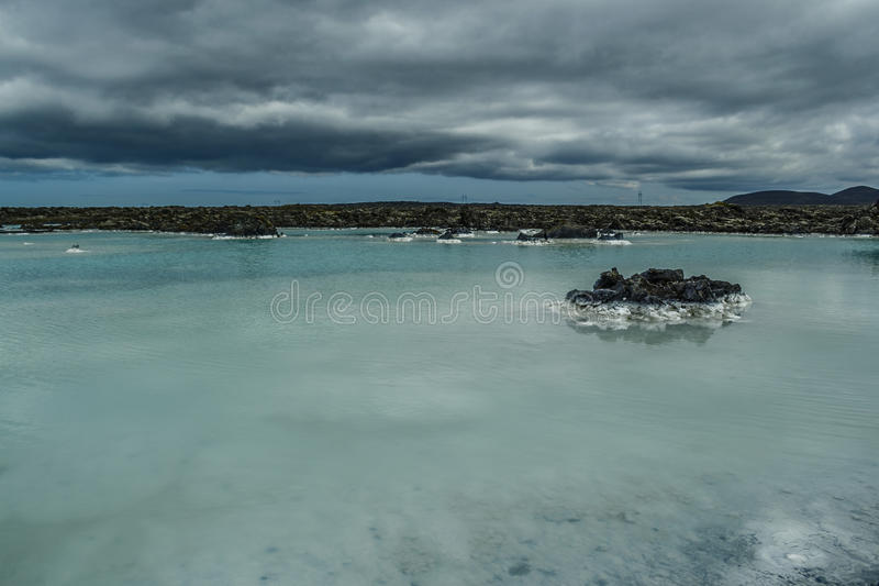 Blue Lagoon in Iceland stock photography