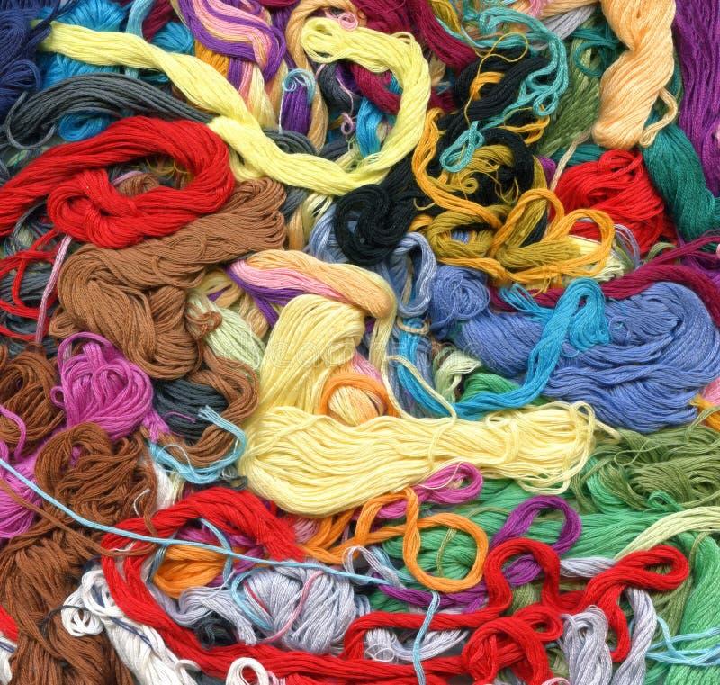 Colour threads background stock photos