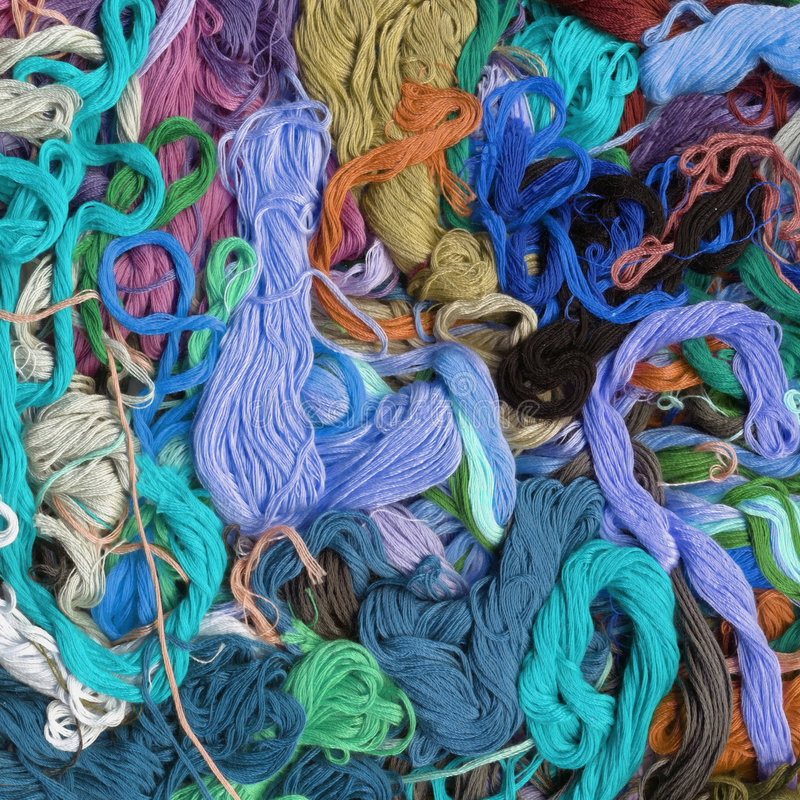 Colour threads background royalty free stock image