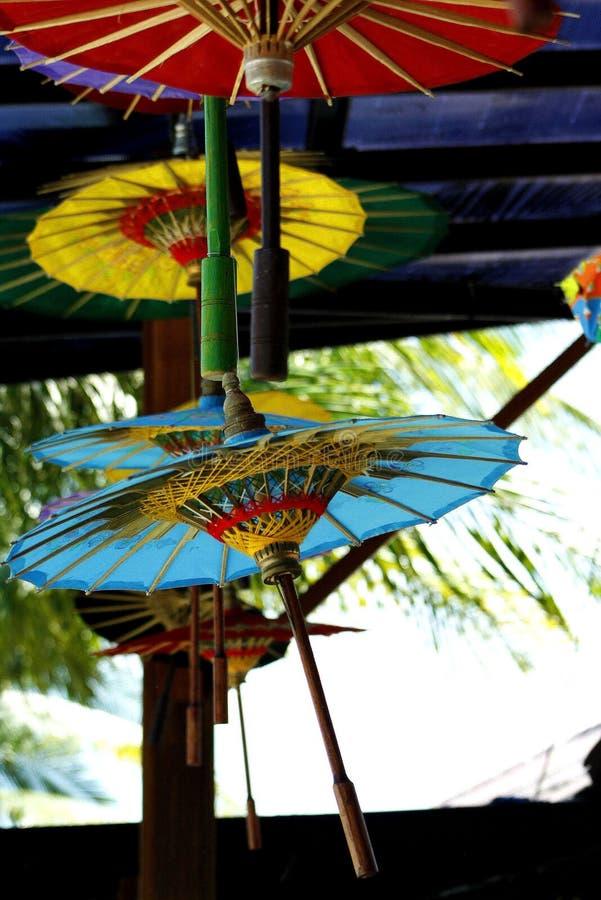Colour umbrellas stock images