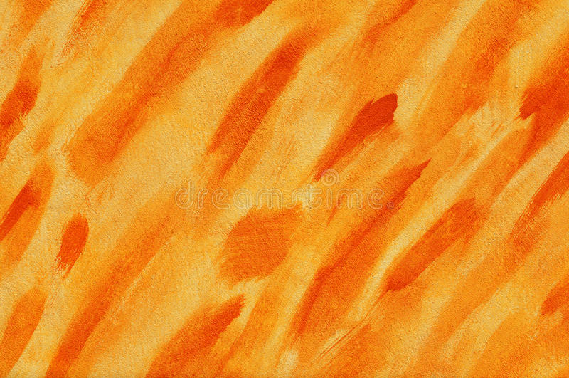 Colour wall. Wall painted with orange. Textured background - you can see the strokes royalty free stock image