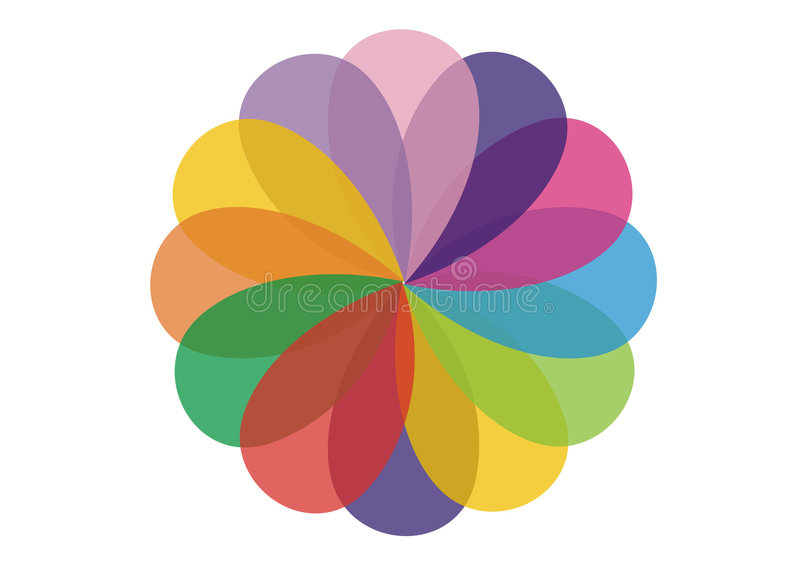 Colour wheel royalty free illustration