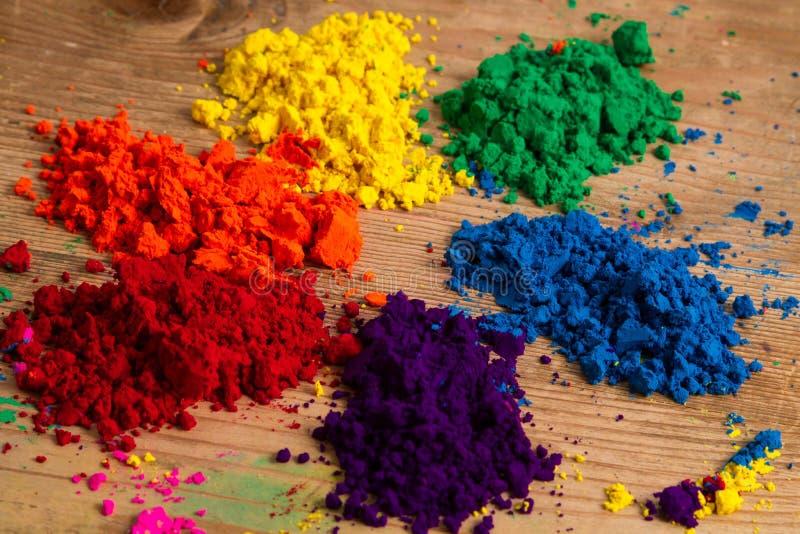 The colour wheel stock image