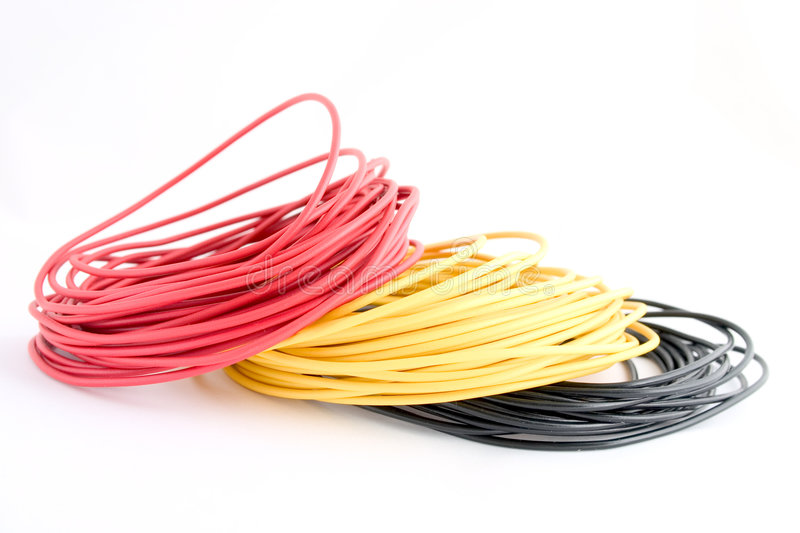 Colour wires 1 stock photo. Image of yellow, cables, colour - 4723874