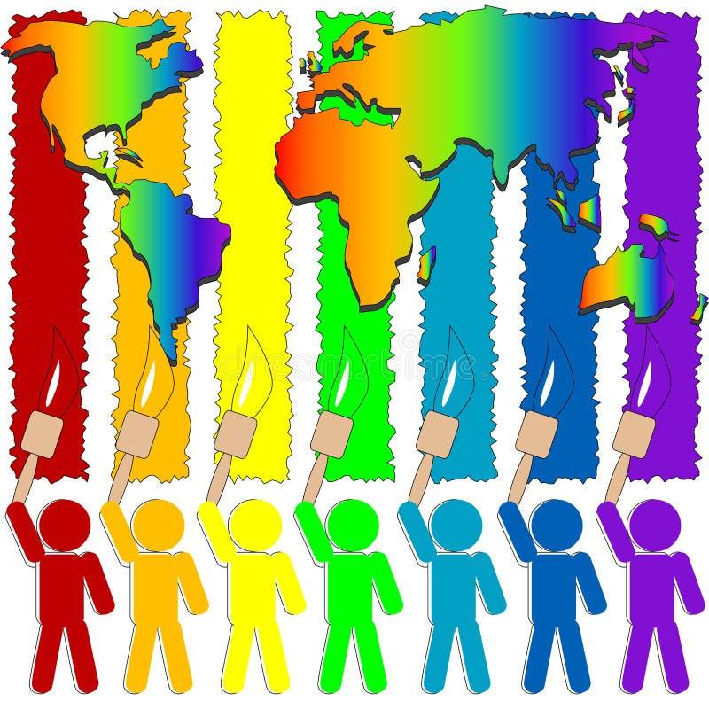 Colour world stock illustration