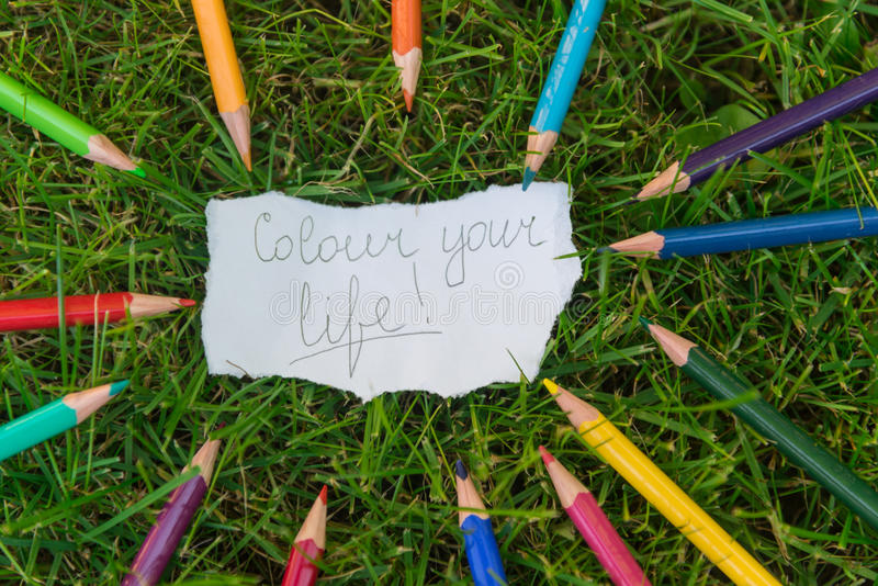 Colour your life stock image