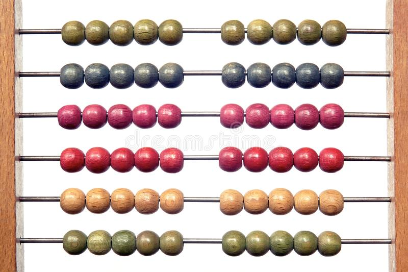 Coloured abacus royalty free stock photography