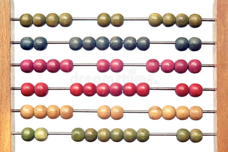 Coloured abacus stock photo