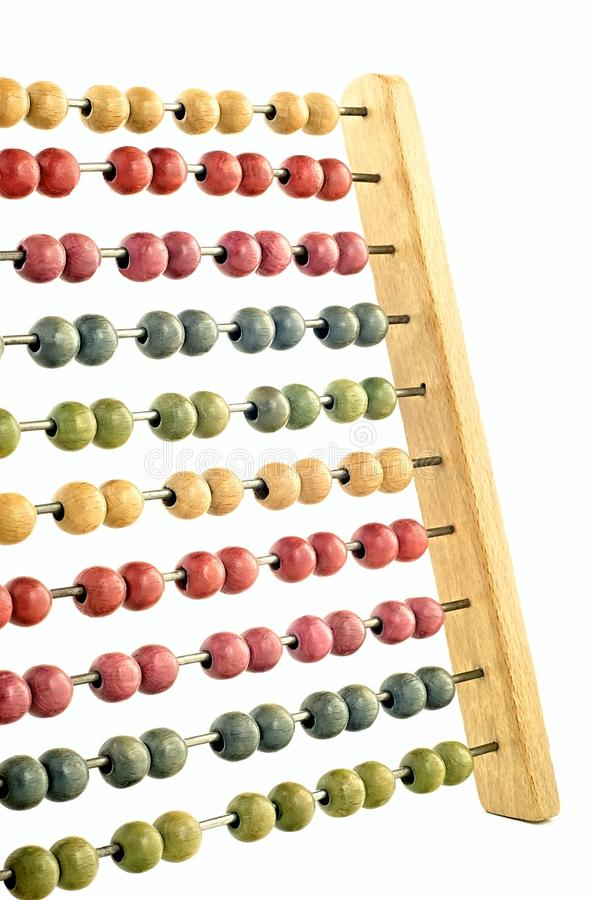 Coloured abacus stock photography