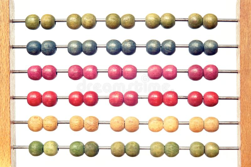 Coloured abacus stock image
