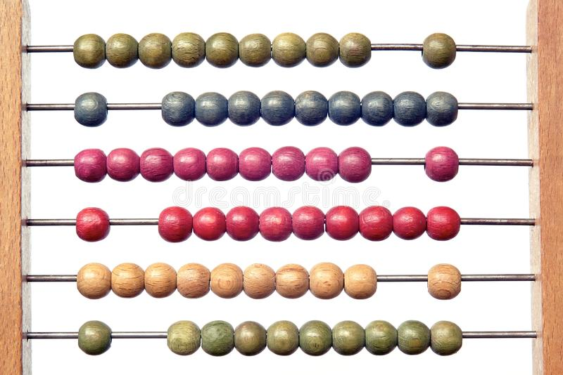 Coloured abacus stock images