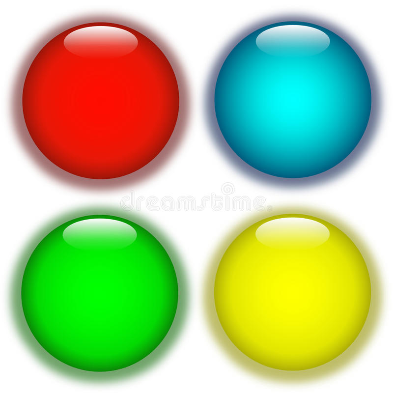 Download Coloured aqua buttons stock illustration. Illustration of button - 14642487
