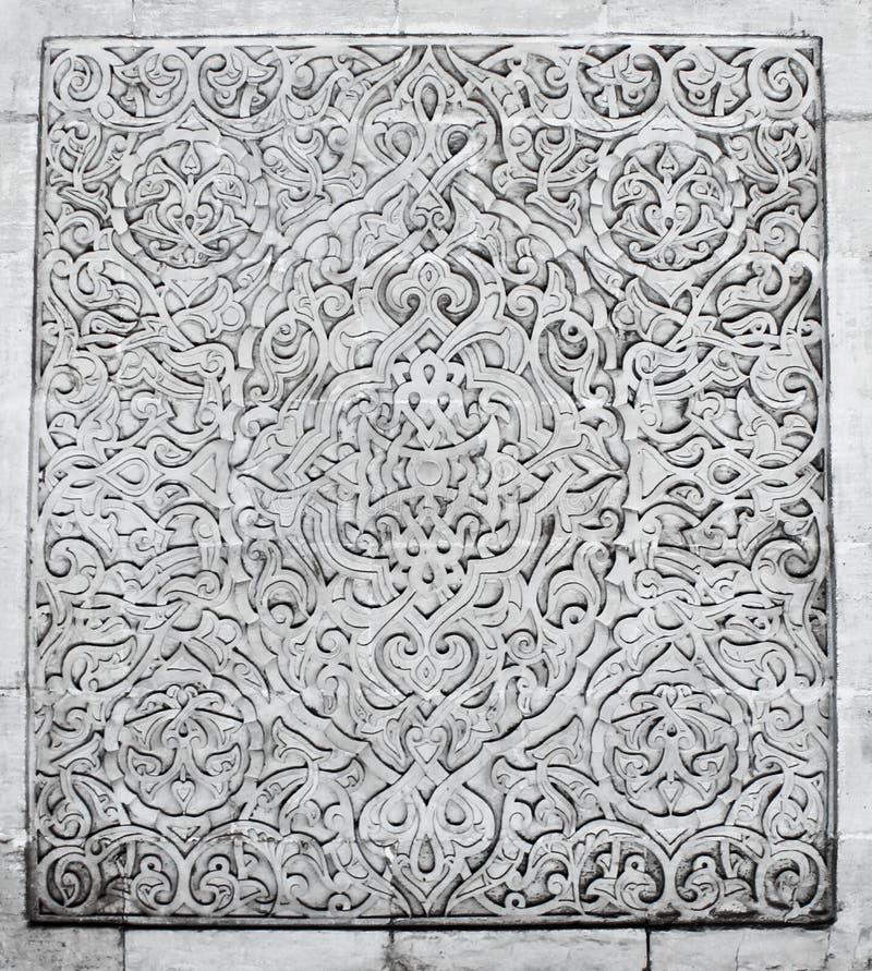 Coloured arabian ornamental carvings stock photography